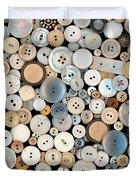 Sewing - Buttons - Lots Of White Buttons Duvet Cover