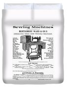 Sewing Machine Ad, 1895 Duvet Cover