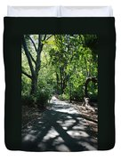 Shaded Paths In Central Park Duvet Cover