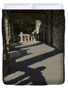 Shadows Cast On The Porch Of Gillette Duvet Cover