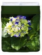 Shadowy Purple And White Emerging Hydrangea Duvet Cover