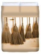 Shaker Brooms On A Wall Duvet Cover