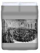 Shakers Dancing Duvet Cover by Photo Researchers