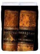 Shakespeare Leather Bound Books Duvet Cover