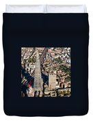 Shard London Aerial View Duvet Cover