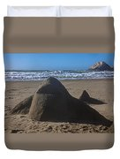 Shark Sand Sculpture Duvet Cover