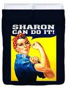 Sharon Rosie The Riviter Duvet Cover