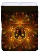 Shattered Five Leaf Clover Abstract Duvet Cover