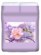 She Like The Ghost Beside Me. Scottish Rose Duvet Cover