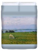 Sheep Grazing Duvet Cover