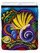 Shellfish Duvet Cover by Leon Zernitsky