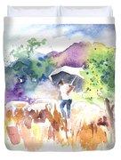 Shepherd In Saint Bertrand De Comminges Duvet Cover