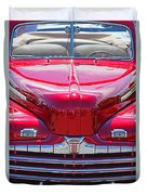 Shiny Red Ford Convertible. Duvet Cover