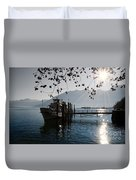 Ship In Backlight Duvet Cover