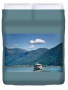 Ship On A Lake Duvet Cover