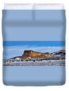 Ship Rock In Kansas Duvet Cover