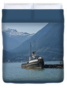 Shipping Freighter In Squamish British Columbia No.0187 Duvet Cover
