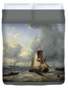 Shipping Off A Jetty Duvet Cover