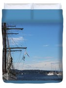 Ships In Oslo Harbor Duvet Cover