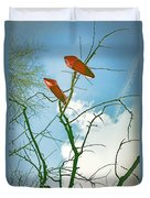 Shoes In The Sky Duvet Cover