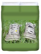 Shoes On The Green Grass Duvet Cover