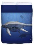 Shonisaurus Popularis Swimming Duvet Cover