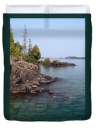 Shore Of Isle Royale Duvet Cover