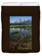Shore Reflections Of Mt Tallac Duvet Cover