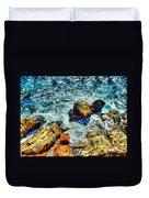 Shores Of The Aegean Duvet Cover