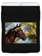 Show Horse Painting Duvet Cover