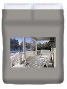 Showy Porch Duvet Cover