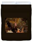 Shrimp With Legs And Claws Spread Wide Duvet Cover