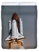 Shuttle Lift-off Duvet Cover by Science Source