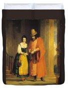 Shylock And Jessica From 'the Merchant Of Venice' Duvet Cover