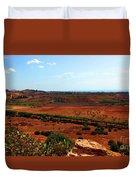 Sicilian Landscape Duvet Cover