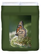 Side Profile Of A Monarch Duvet Cover