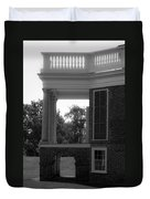 Side View South Portico Bw Duvet Cover