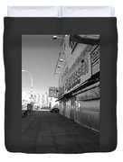 Sidewalks Of Gum In Black And White Duvet Cover