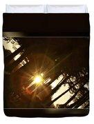 Sideways Sunset Duvet Cover