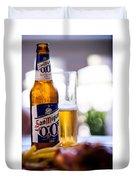 Siesta Time I. Beer Sun Miguel Duvet Cover