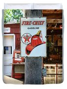 Sign - Fire Chief Gasoline Duvet Cover