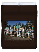 Sign Posts Forest In Watson Lake Yukon Duvet Cover