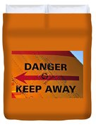Signs Of Danger Duvet Cover