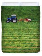 Silage Making, Ireland Duvet Cover