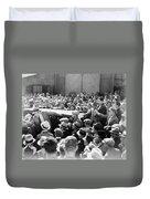 Silent Film: Crowds Duvet Cover