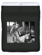 Silent Film Still: Accidents Duvet Cover