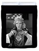 Silent Film Still: Costume Duvet Cover
