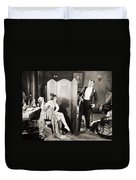 Silent Film Still: Legs Duvet Cover