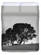 Silhouette Of A Tree With Sheep Duvet Cover