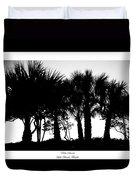 Silhouette Palm Sunset Duvet Cover